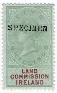 (I.B) QV Revenue : Land Commission Ireland 5/- (specimen)