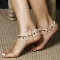 Girl's Pearl Ankle Bracelet Foot Chain Beach Beads Anklet Jewelry for Party