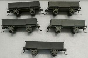 5 X SMALL OPEN FREIGHT CARS FOR AUSTRALIAN RAILWAYS, COMPLETED KITS