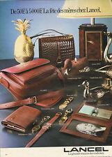 Publicité 1981 LANCEL sac à main maroquinerie porte-document cuir