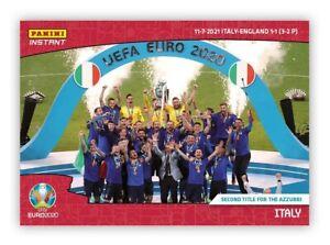 🇮🇹 UEFA EURO 2020 PANINI INSTANT –CARD #70 – ITALY - SECOND TITLE FOR AZZURRI