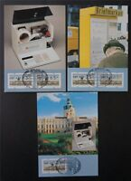 BERLIN ATM MK 1987 VS2 KOMPLETT 3 MAXIMUMKARTEN CARTE MAXIMUM CARD MC CM c7604