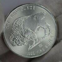 Elemetal Mint 1 oz Buffalo .999 Fine Silver Round with Radial Lines BU