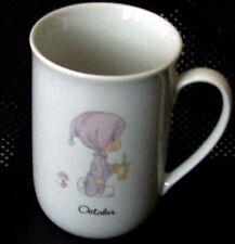 "Precious Moments ""October"" Mug, 3.5"" tall, Decorative Collectible"