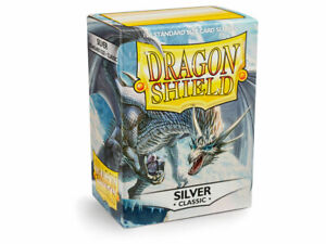 Classic Silver Case Display Dragon Shield Standard Size Sleeves - 10 Packs
