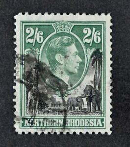 N. RHODESIA, KGVI, 1938, 2s.6d. black & green value, SG 41, used, Cat £8.