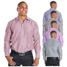 Gestreifte Maschinenwäsche Klassische Herrenhemden auf Slim Fit ohne Mehrstückpackung