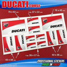 Set N.12 Aufkleber Ducati Corse Scuderia Motorrad Helm