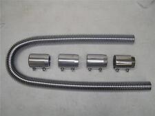 "COMPLETE 48"" Chrome Stainless Radiator Hose Kit Hot Rod SS BRAND NEW"