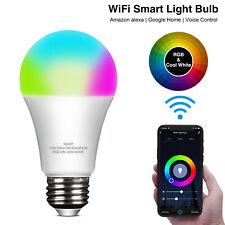 Wifi Smart LED light Bulb 9W E26 RGB Dimmable for Alexa/Google Home App Control
