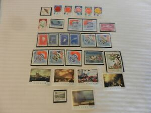 Lot of 28 Romania Stamps Flowers, Astronauts, Cosmonauts, Art & More