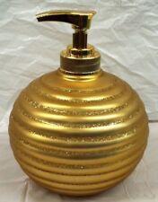 New Anna's Linen Gold Glittery Soap Dispenser / Lotion dispenser Holiday Gift