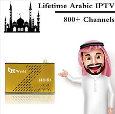 Best Seller Lifetime Arabic IPTV HDWorld Channels DVB-S2 Satellite Receiver