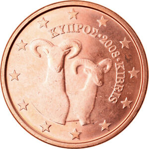 [#790413] Chypre, 5 Euro Cent, 2008, SPL, Copper Plated Steel, KM:80