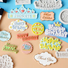 Happy Birthday Silicone Fondant Cake Mold Alphabet Letter Chocolate Baking Mould