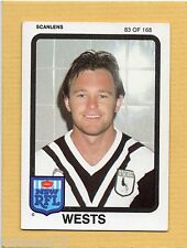 1981 SCANLENS RUGBY LEAGUE CARD-#83 of 168-ALAN LATHAM-WESTS