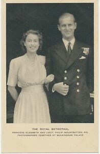GB ROYALTY 1947 mint Tuck's postcard THE ROYAL BETROTHAL – PRINCESS ELIZABETH