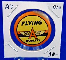 """Flying A Quality Advertising Pin Pinback Button 1 1/4"""""""