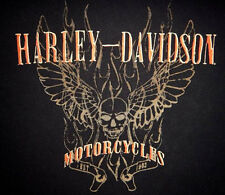 HARLEY DAVIDSON Soul Fire 2 LAYER L/S  WINGED SKULL SHIRT (XXL) 96770-07VM