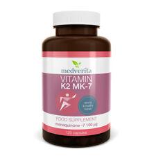 La vitamina K2 MK-7 100mcg + inulina prebiotica 120 Capsule-nessun riempitivi o raccoglitori