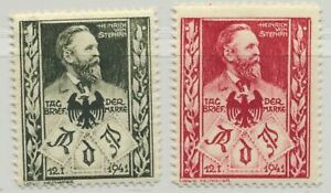 Germany Heinrich von Stephan 1941 Ovrprt for Philately Day 2v MH Cinderella Rare