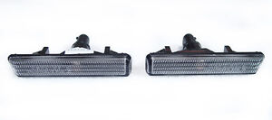 DEPO 2001-2006 BMW E46 M3 Replacement Clear Fender Side Marker Light Set