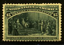 US Scott 238 Colombian Exposition Lovely stamp Mint No Gum