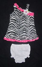 Infant Baby Girls RARE TOO Zebra Dress - size 24 months - Only Worn 1 Time!