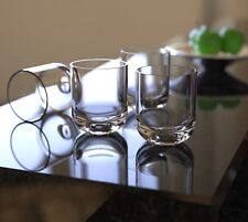 QG 15 oz Unbreakable Tritan Plastic Clear Rocks Glass Heavy Round Base Set of 4