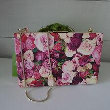 KATE SPADE Emanuelle GRANT STREET FLORAL CLUTCH Shoulder BAG Pink ROSES Sold Out