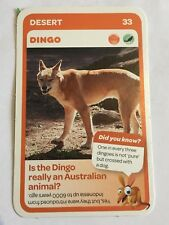 Taronga Zoo Woolworths Aussie Animal Card #33 Dingo