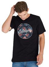 """Tag Billabong Mens Large """"rounder"""" Surf T-shirt Tee Top Black"""