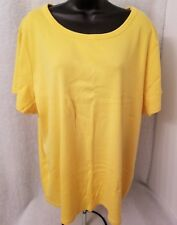 Fashion Bug Womens Yellow Shirt Top Blouse Size 3X