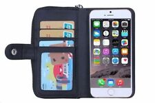 Apple Leather Matte Mobile Phone Wallet Cases