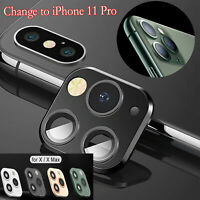 Camera Lens Screen Protector For iPhone X/XS MAX Seconds Change To iphone 11 Pro