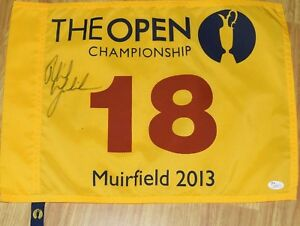 Phil MICKELSON Signed 2013 BRITISH OPEN Flag - JSA LOA