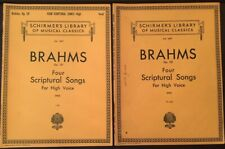 Brahms Op. 121 Four Scriptural Songs For High Voice (German & English) 2 copies