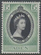 Aden 1953 ** Mi.48 Krönung Coronation Königin Queen Elisabeth Portrait Porträt