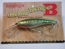 Bagley's Diving Bang O B 6 Brass Hangers H69S Fishing Lure NIP Wood Grain Pack!