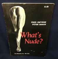 What's Nude? Fred Gwynne, Peter Basch 1960 Nude Photography & Illustration Book