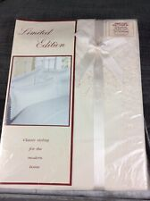 Cream Double Embellished Quilt Cover & Pillowcases Set New