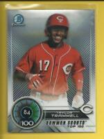 Taylor Trammell RC 2018 Bowman Chrome Scouts Top 100 Rookie Card # BTP-84 Reds