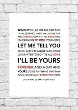Jimmy Radcliffe - Long After Tonight Is All Over - Song Lyric Art Poster - A4