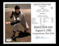 Hal Newhouser PSA DNA Coa Hand Signed 8x10 HOF Induction Photo Autograph