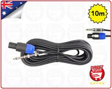 """Speakon To 6.35mm 1/4"""" Male Jack Adaptor Plug. 10 Metre Lead SPEAKON635"""
