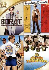 Borat/Napoleon Dynamite/Reno 911/Super Troopers (DVD, 2015, 4-Disc Set) NEW