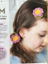 little flower hairclip knitting pattern