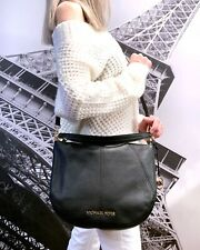 Michael Kors Bedford Medium Convertible Shoulder Crossbody Bag Leather Black