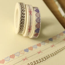 Hot 1 Roll White Lace Sticky Tape Sticker Trim Label Scrapbooking Paper DIY