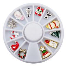 3D Nail Art Manicure glitter nail supplies tools Christmas decoration Wheel